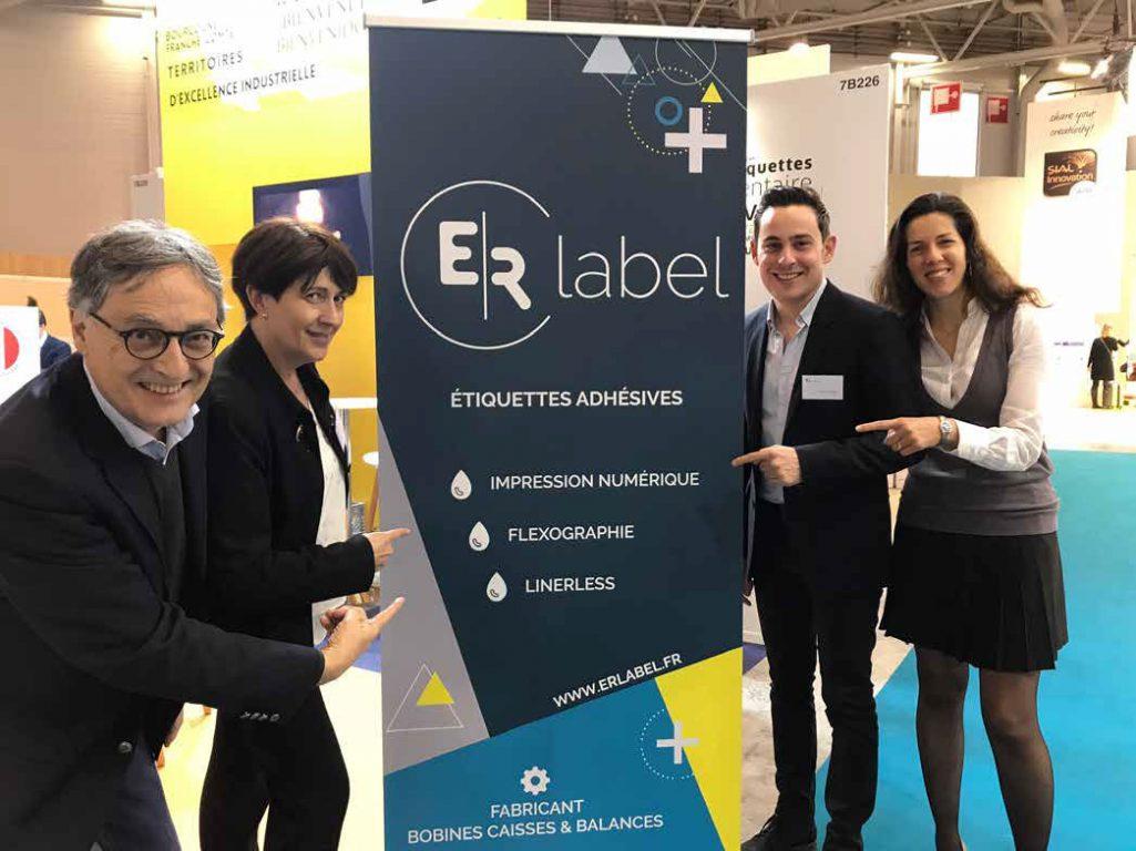 ER Label au salon international de l'emballage ALL4Pack à Paris